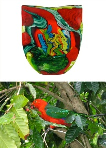 King-Parrot-And-Glass by Noel Hart