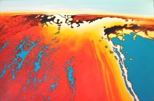 Lake eyre basin  150 x 100 cm